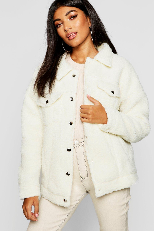 Купить Coats & Jackets, Teddy Trucker из искусственного меха, boohoo