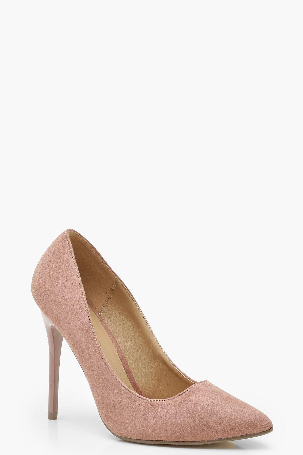 Купить Heels, Wide Fit Skin Tone Court Shoes, boohoo