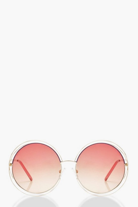 Holly Ombre Coloured Lens Round Sunglasses