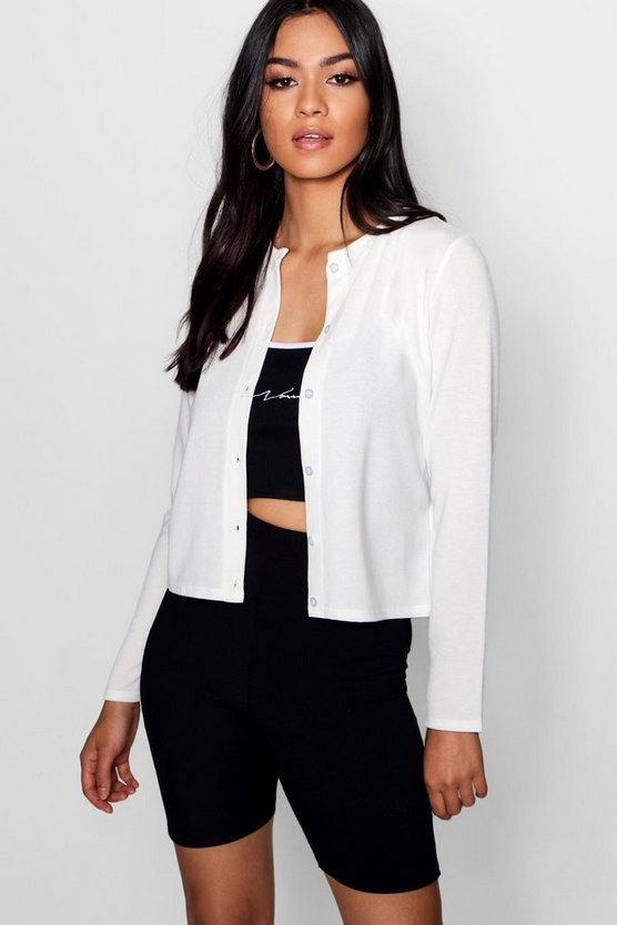 Saskia Button Up Crew Neck Cardigan