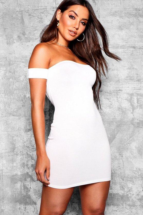 Off the Shoulder Bodycon Mini Dress