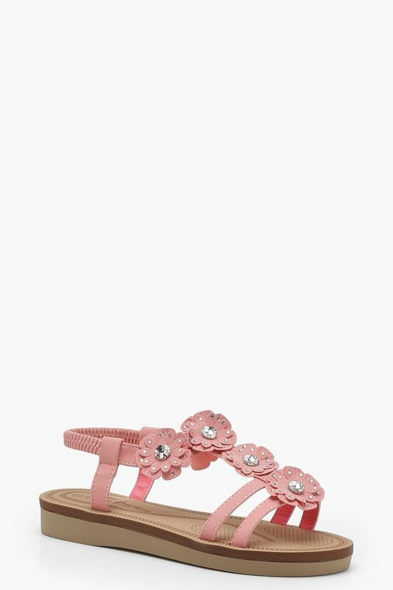 Embellished Footbed Sandals