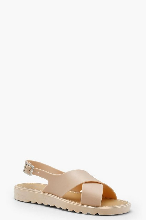 Skye Cross Strap Cleated Sandals