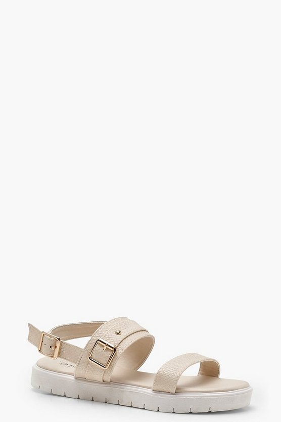 Buckle Cleated Sandals