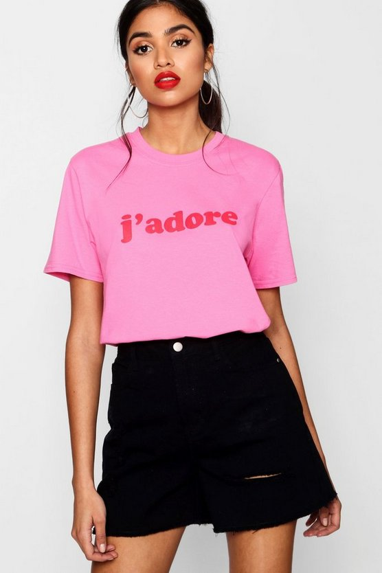 Molly T-Shirt mit J'Adore Slogan