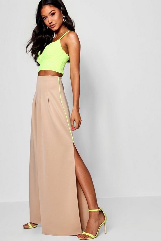 Split Side Wide Leg Trouser