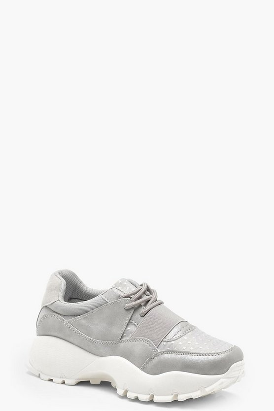 Elastic Strap Chunky Trainers
