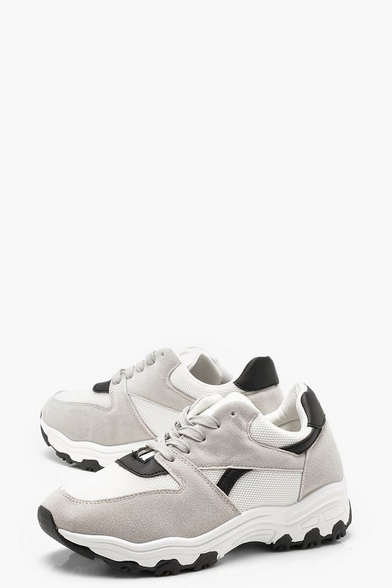 Amber Chunky Trainers by Boohoo