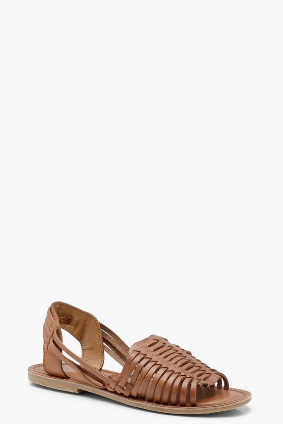 Lauren Leather Woven Sandals