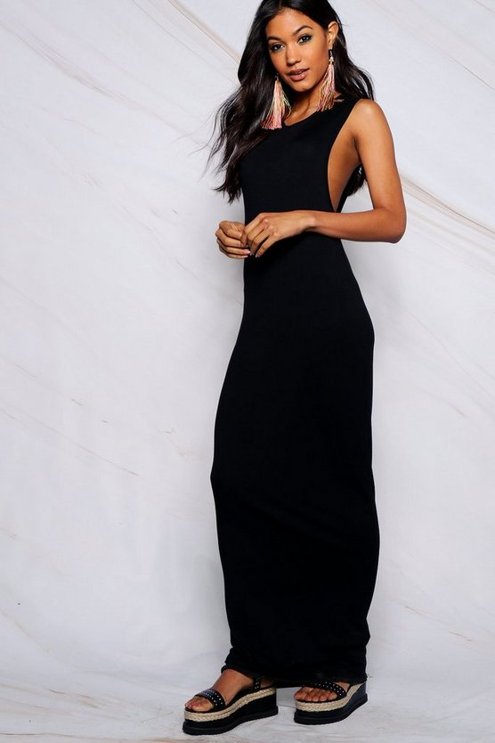 Leila Drop Arm Hole Maxi Dress