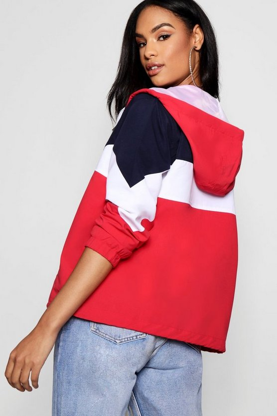 Katie Hooded Panelled Wind Breaker