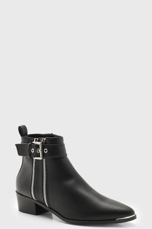 Купить Boots, Ботильоны челси до щиколотки с двумя молниями, boohoo