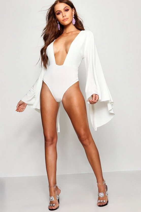 Extreme Cape Sleeve Bodysuit