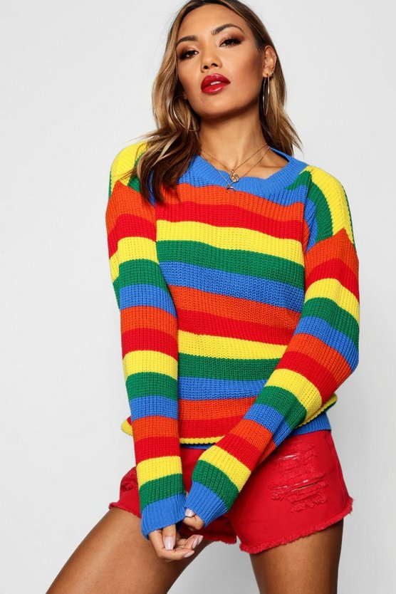 Lola Rainbow Knitted Stripe Jumper
