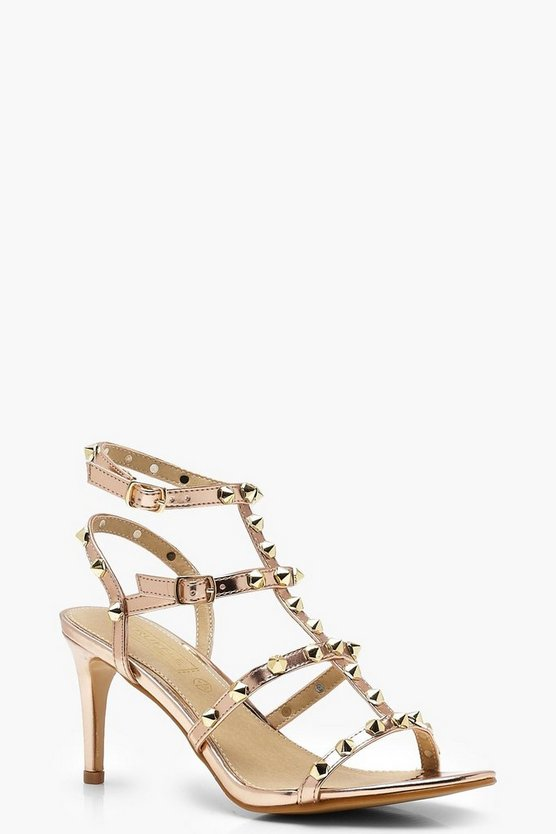 Amy Studded Cage Kitten Heels
