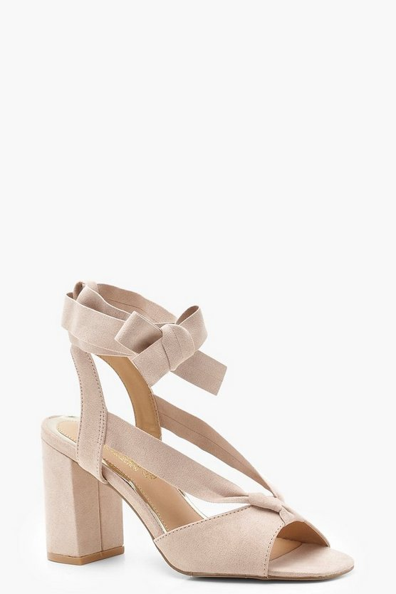 Harriet Wide Fit Wrap Strap Block Heels