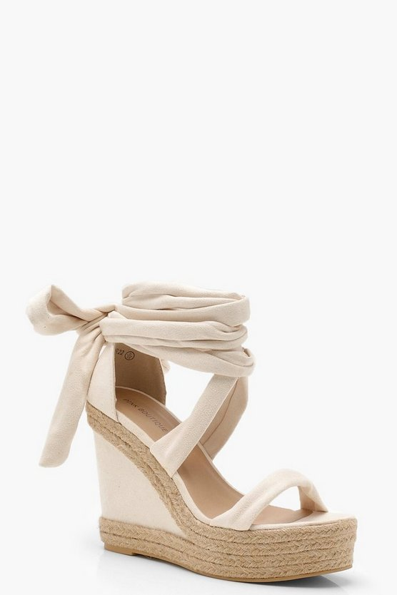 Wrap Up Espadrille Wedges