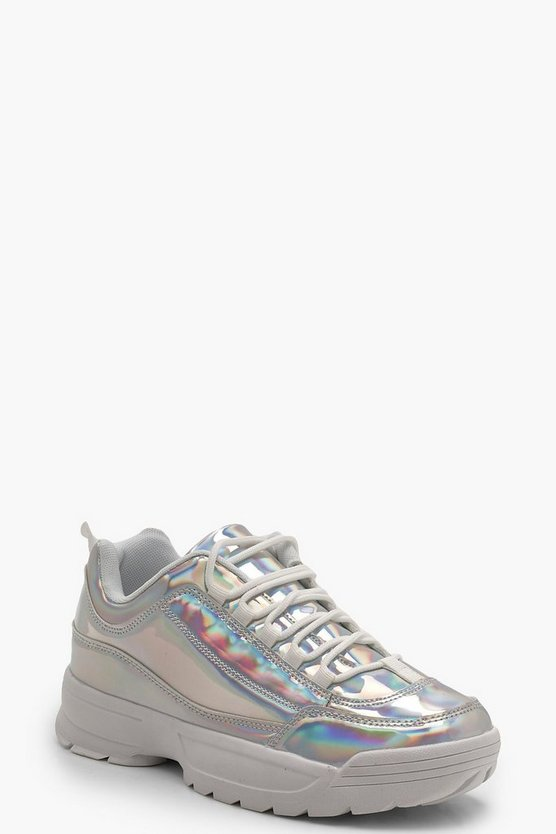 Holographic Chunky Trainers
