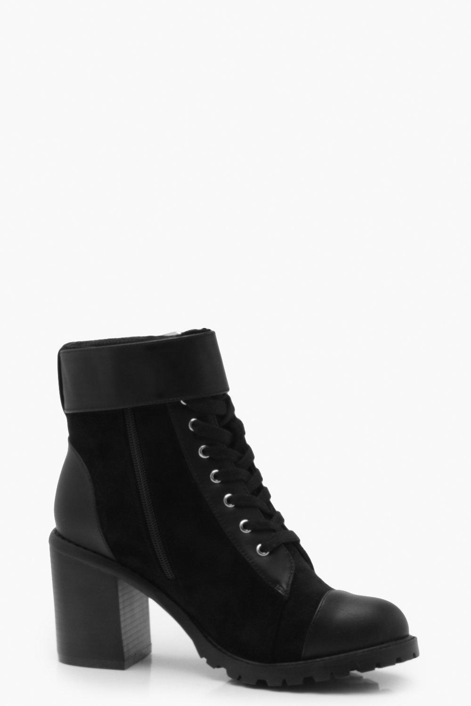 Купить Boots, Горные ботинки на каблуке из разных материалов с ремешками, boohoo