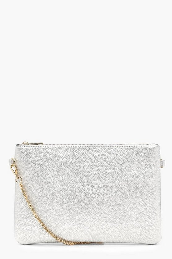 Metallic Chunky Chain Cross Body