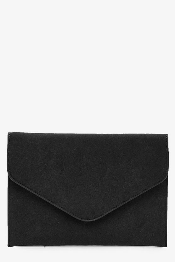 Holly Suedette Envelope Clutch