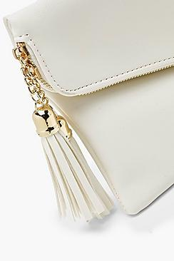 Foldover Double Tassel Clutch