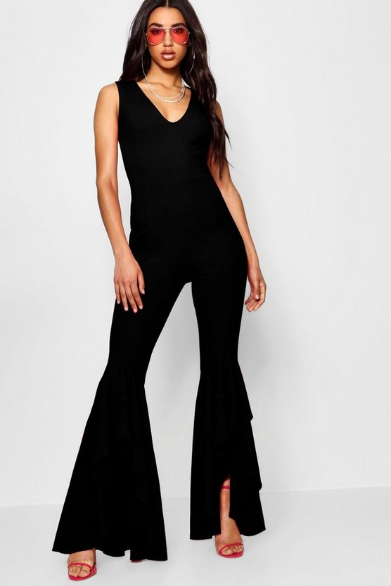 Stefflon Don Frill Hem Jumpsuit