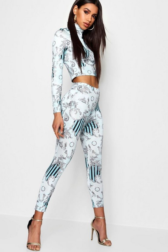 Baroque Print 3/4 Length Legging