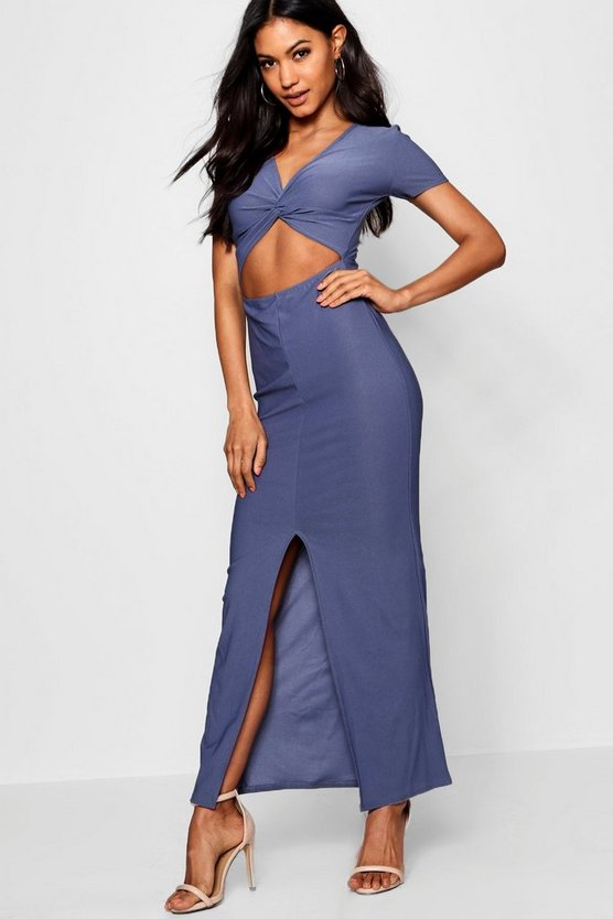Tammy Twist Front Maxi Dress