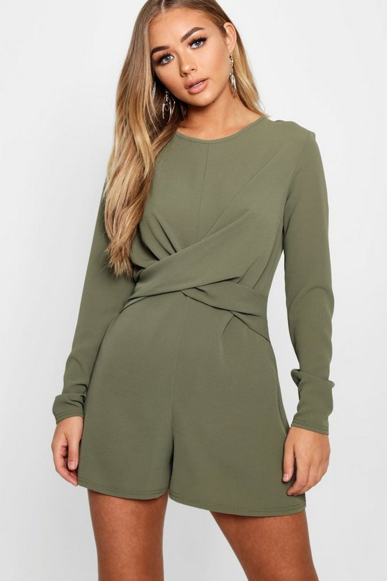 Twist Front Woven Playsuit