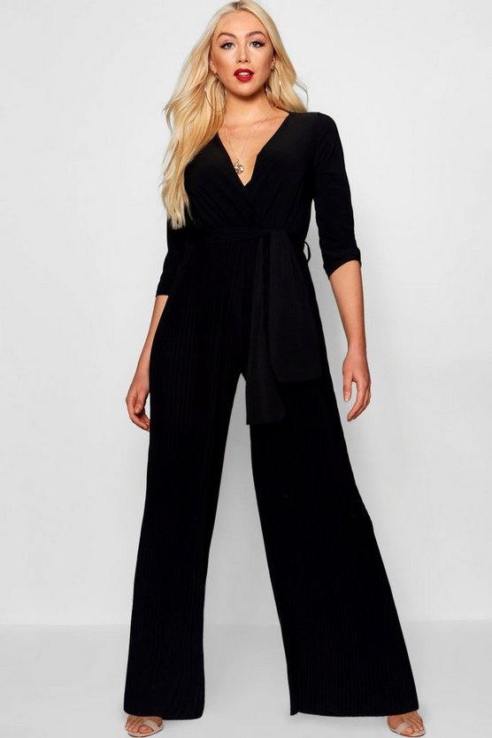 Jessica Pleated Wide Leg Jumpsuit