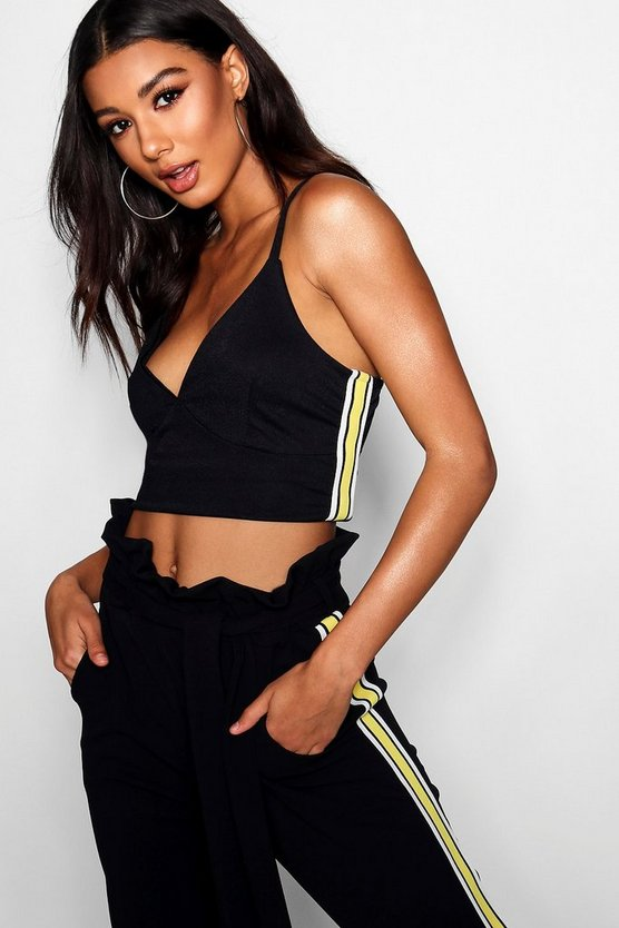 Malanie Edit Sport Tape Bralet Top