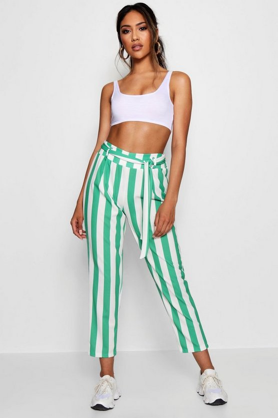 Laura Candy Stripe Belted Trouser