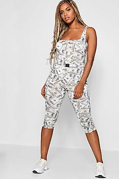 Stefflon Don Dollar Print Unitard