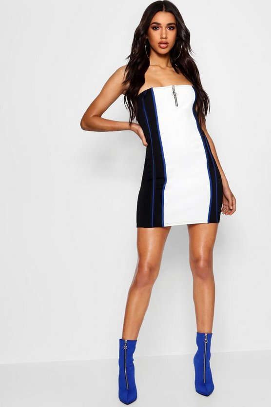 Stefflon Don Bandeau Contour Bodycon Dress