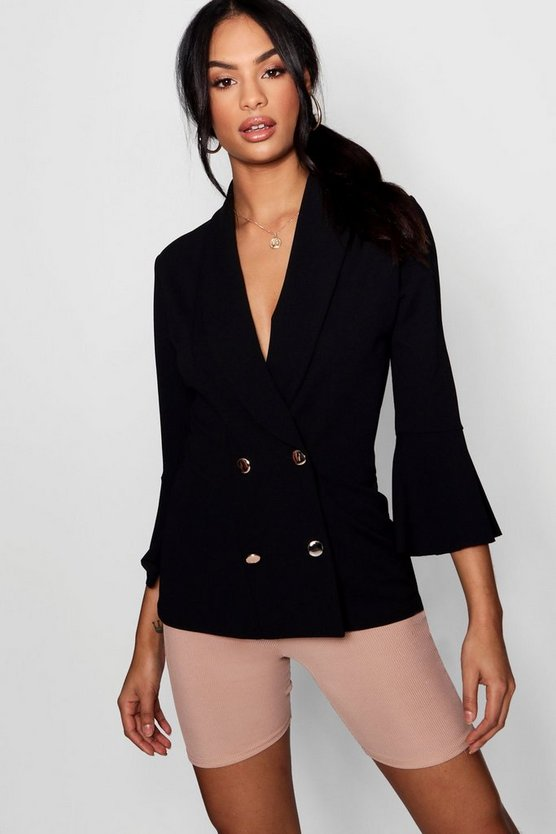 Georgina Flared Sleeve Double Breasted Blazer
