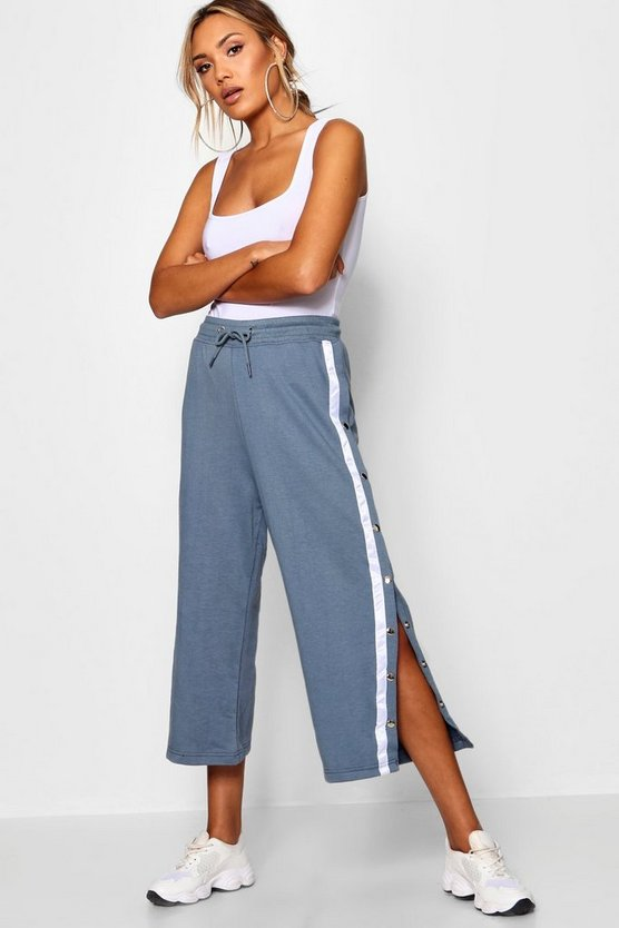 Popper Stripe Side Sweat Culottes