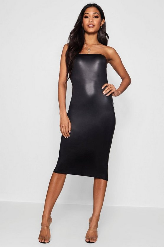 Vic Disco Slinky Bandeau Midi Dress