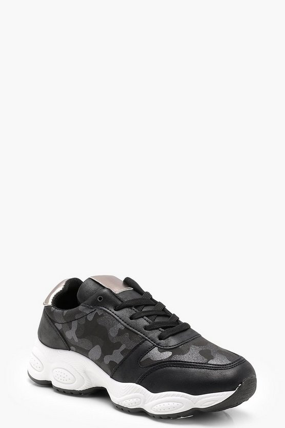 Sophie Camo Chunky Sports Trainers