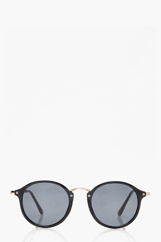 Sale Accessories Black & Gold Frame Round Sunglasses