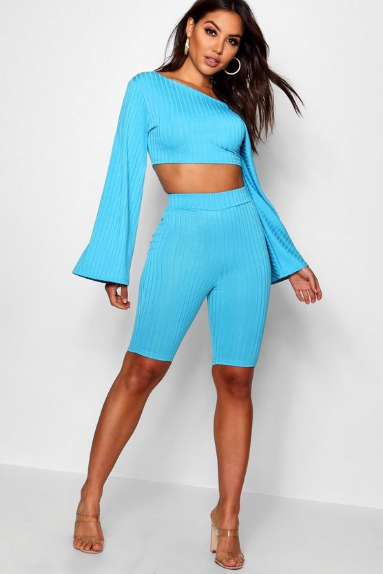 Fiona Off The Shoulder Cycling Short Co-ord Set