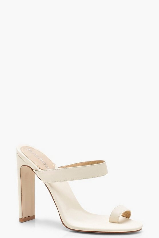 Frances Toe Post Mule Heels