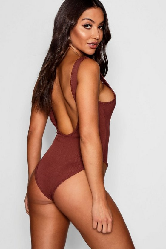 Lily High Rise Scoop Back Rib Bodysuit