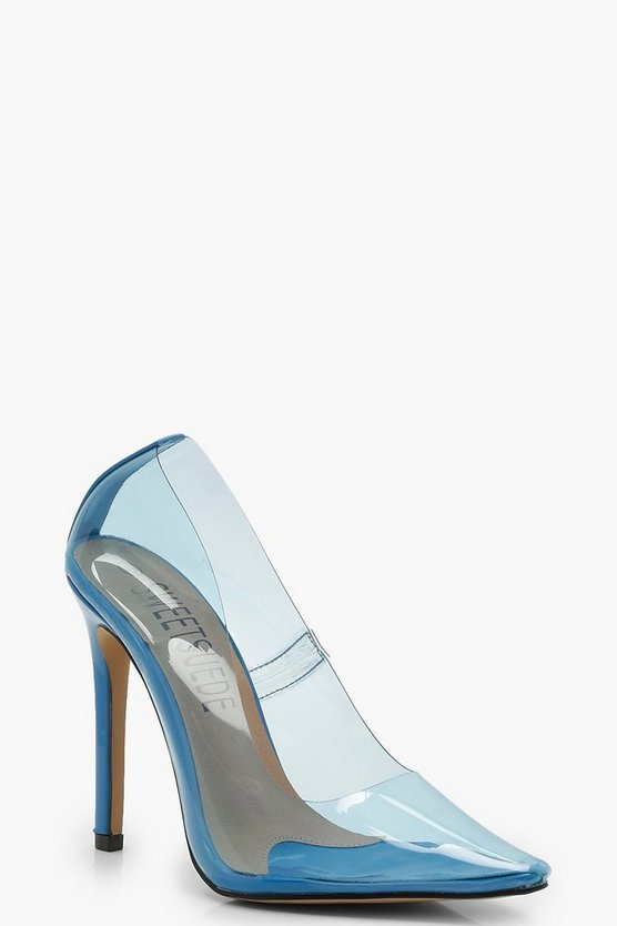 Katie Clear Coloured Court Heels