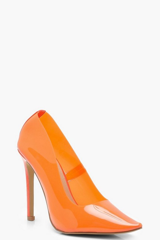 Clear Coloured Court Heels