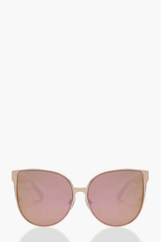 Mirrored Retro Lens Sunglasses