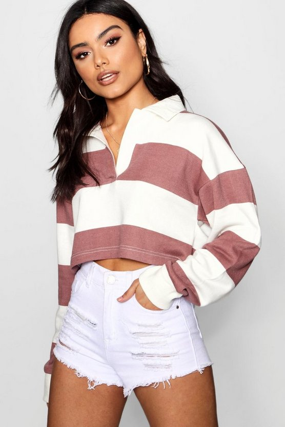 Stripe Boxy Rugby Top