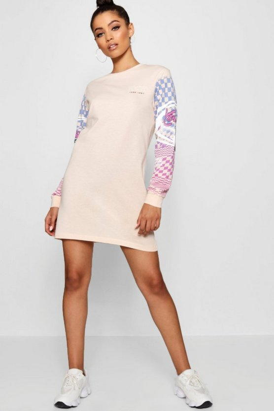 Motorcross Long Sleeve T-Shirt Dress