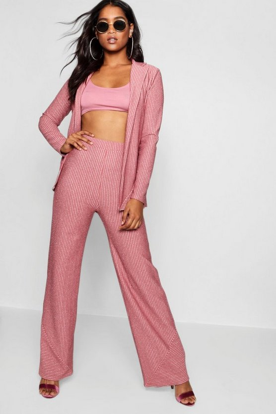 Sparkle Stripe Wide Leg Trouser