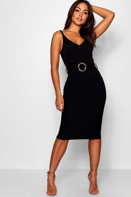Grace Belted Strappy Midi Dress